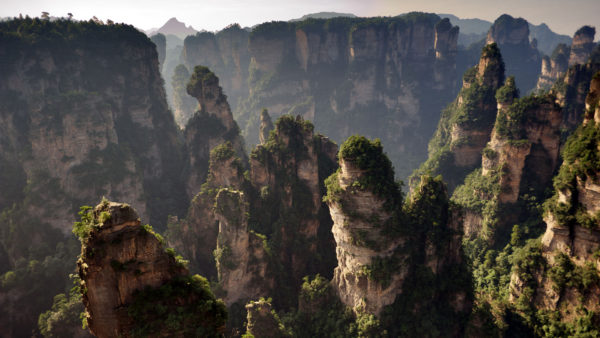 The Zhangjiajie National Forest Park in China