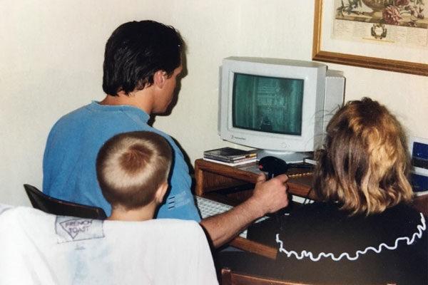A Gamer dad, 1996