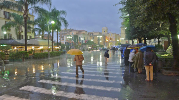 Sorrento with rain!