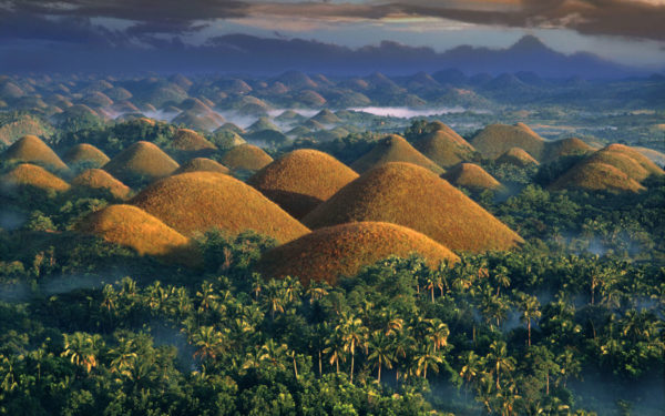 Hills of the island Bohol