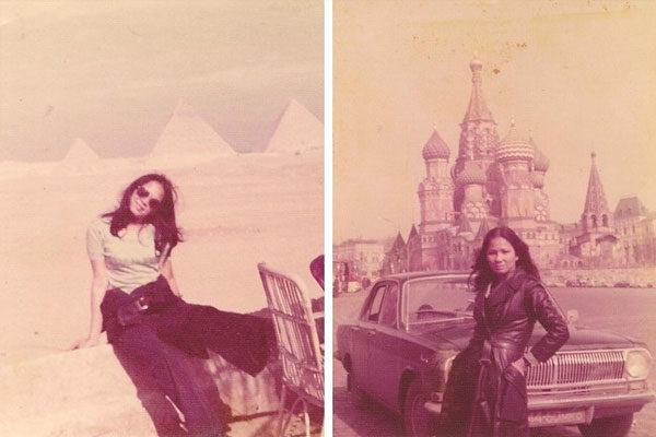 She also loved traveling, 1975