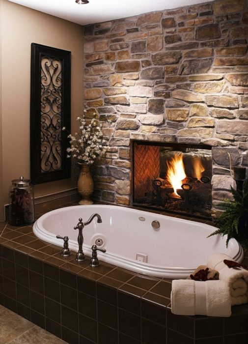 20. Chimney bathing tub