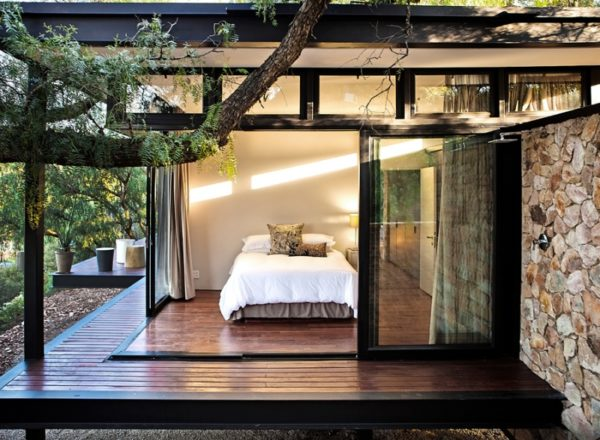7. Sliding-door bedroom.