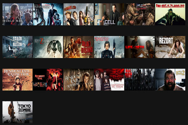 Horror Zombie movies, 75405 Code