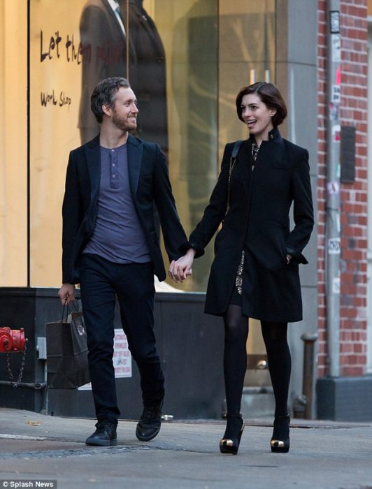 Anne Hathaway and Adam Schulman