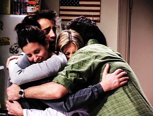 Cast hug