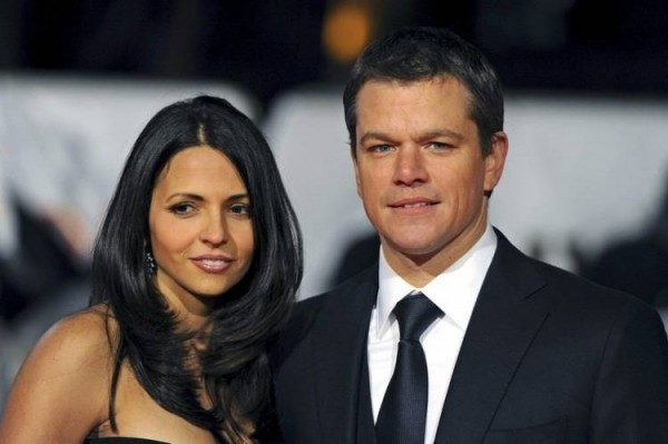 Matt Damon and Luciana Bozán Barroso