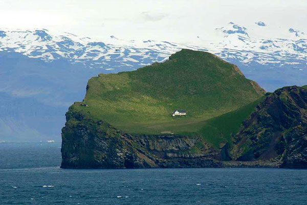 The island Elliðaey's house, Iceland