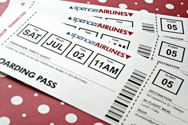 A plane ticket