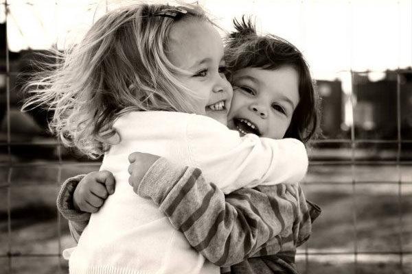 Hugging makes feel good