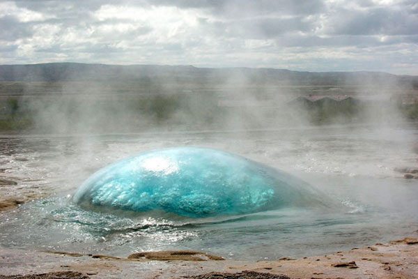 Geothermal area in Strokkur, Iceland