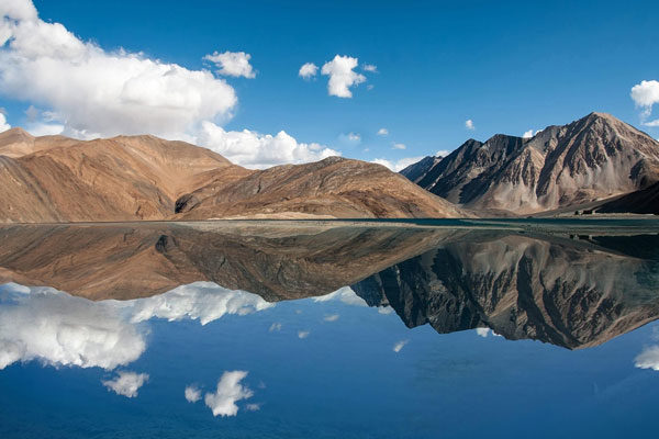 Pangong Tso, the Himalayas