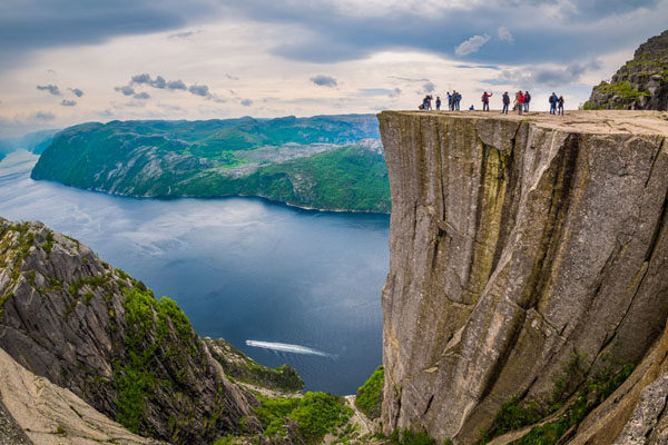 Hiking to the Pulpit Rock - Norway