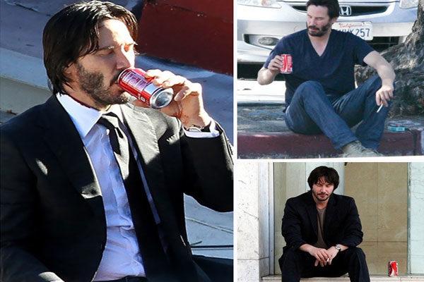 Drinking a Coca-Cola