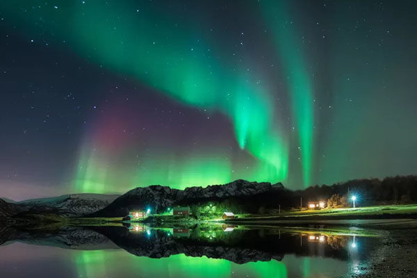 Watching Northern Lights - Norway