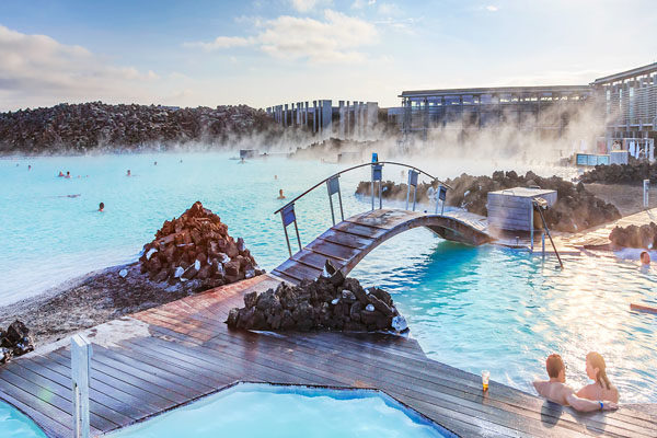 Relaxing in Blue Lagoon,- Iceland