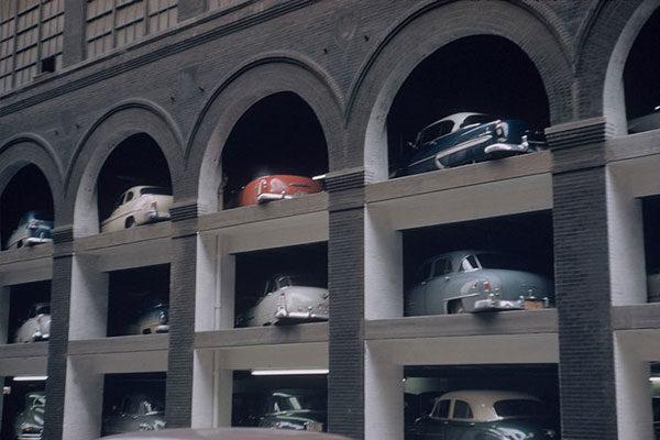 Parking lot, 1953