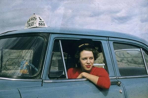 Taxi driver, 1956