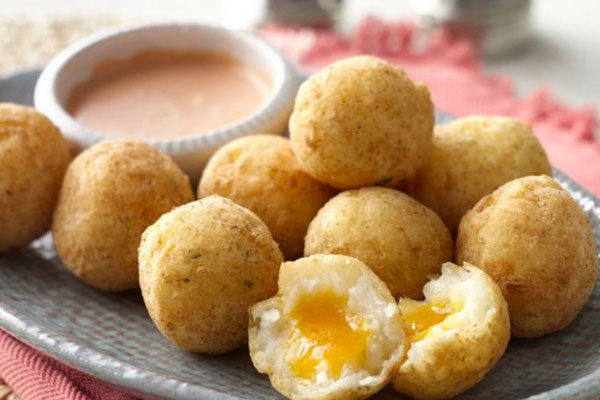 Loaded fried mashed potato balls
