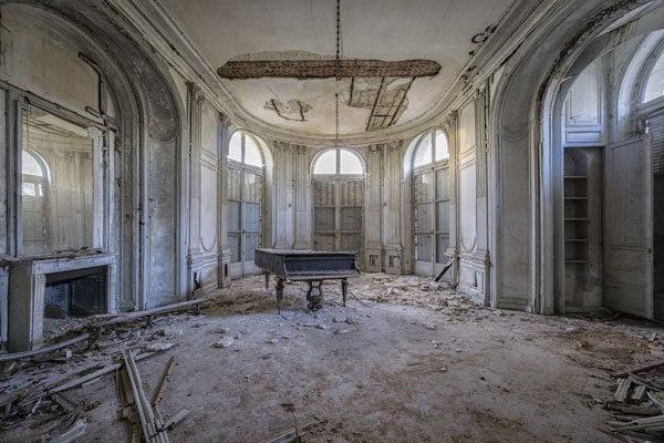 Between ruins