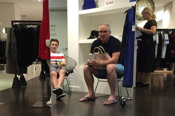 Teaching his son how to deal with it