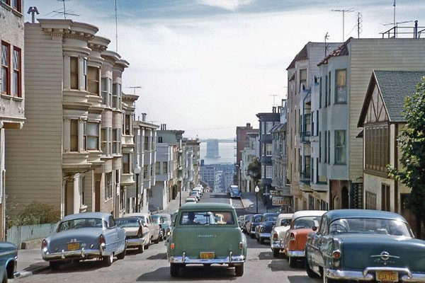 The streets of San Francisco, 1957