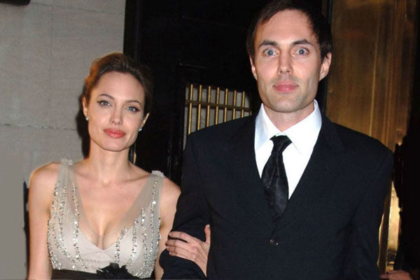 Angelina Jolie and his brother James Haven