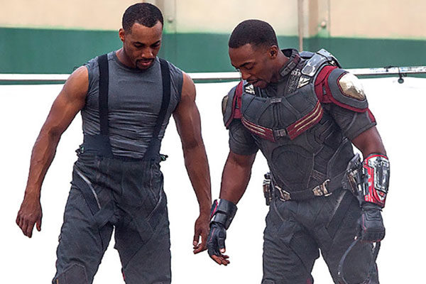 Anthony Mackie and Aaron Toney