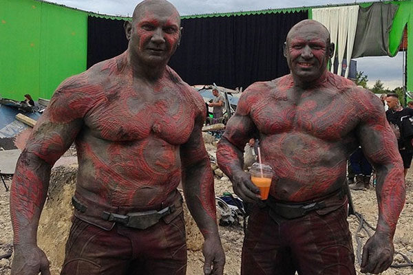 Dave Bautista and Rob de Groot
